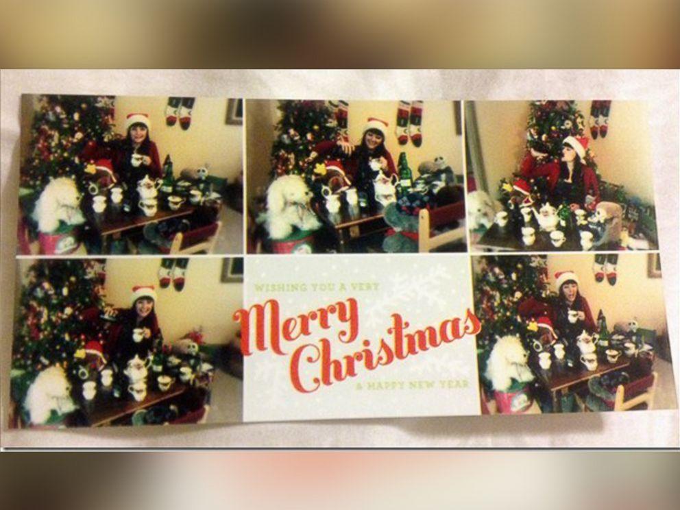Single Girl's' Comical Christmas Cards Go Viral - ABC News