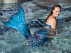 PHOTO: Marielle Chartier-Henault founded the first mermaid school in Montreal after a photo shoot in which she modeled as a mermaid left her feeling inspired.
