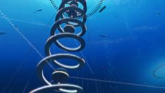 PHOTO: Shimizu Corporations concept explores the integration of humans with the ocean and deep sea with structures such as the one shown in this handout image.