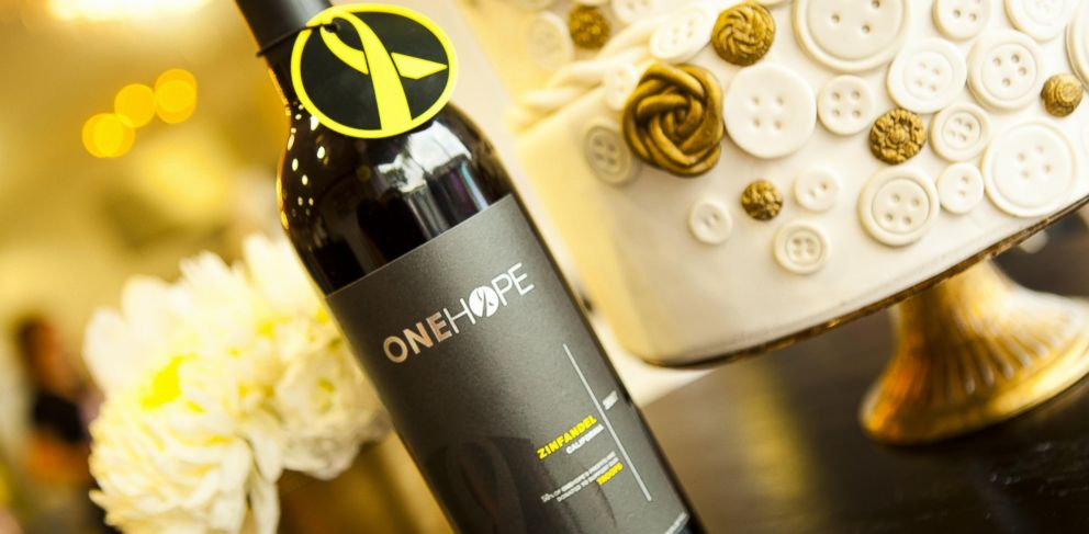 PHOTO: Couples who serve One Hope wine varietals at their wedding can feel good, as various nonprofits reap the proceeds.