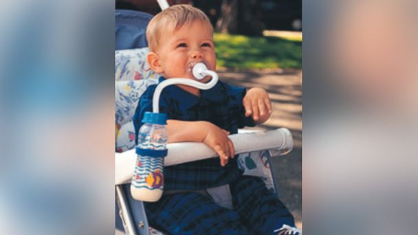 PHOTO: The Pacifeeder provides hands-free feeding for babies.
