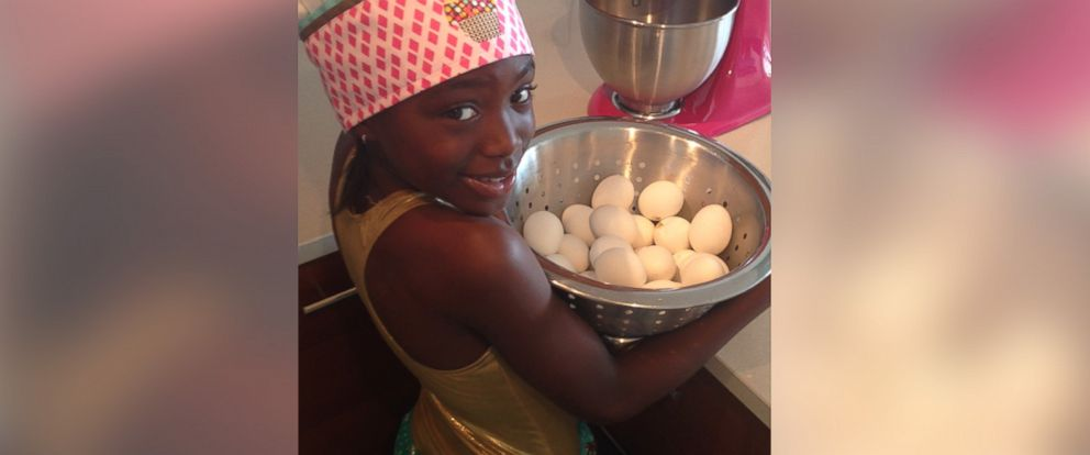 PHOTO: Eight-year-old pastry chef Taylor Moxey at work.