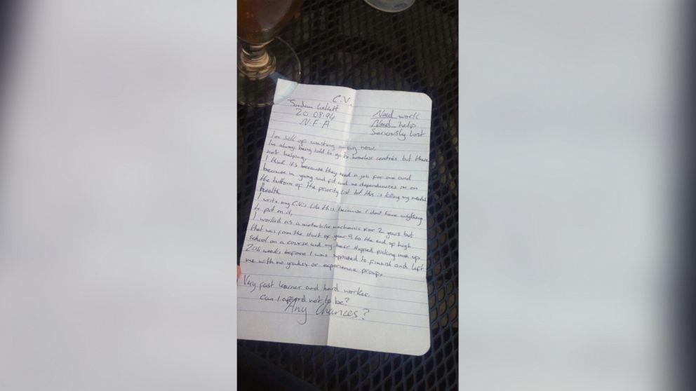 Hand written resume