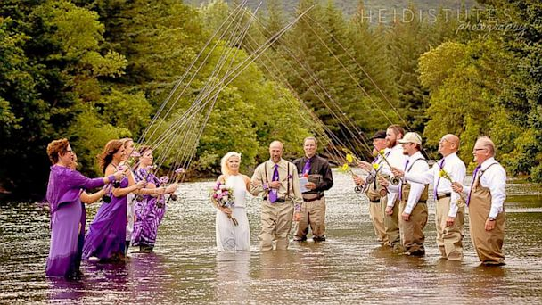 ht river wedding ll 130806 16x9 608 Alaskan Fishing Couple Have Wet Wedding Knee Deep in River