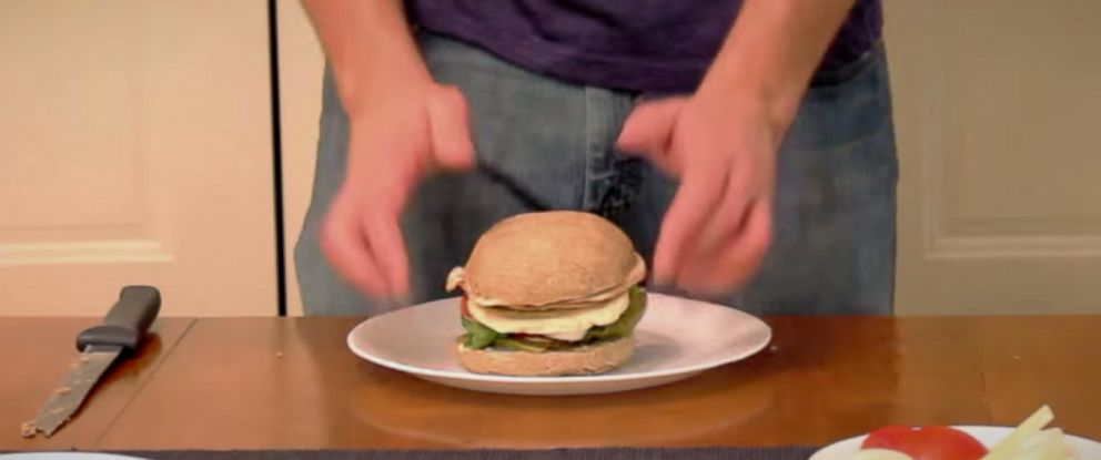 "PHOTO: A screen grab from How To Make Everythings video of ""How to Make a $1500 Sandwich in Only 6 Months,"" on YouTube."