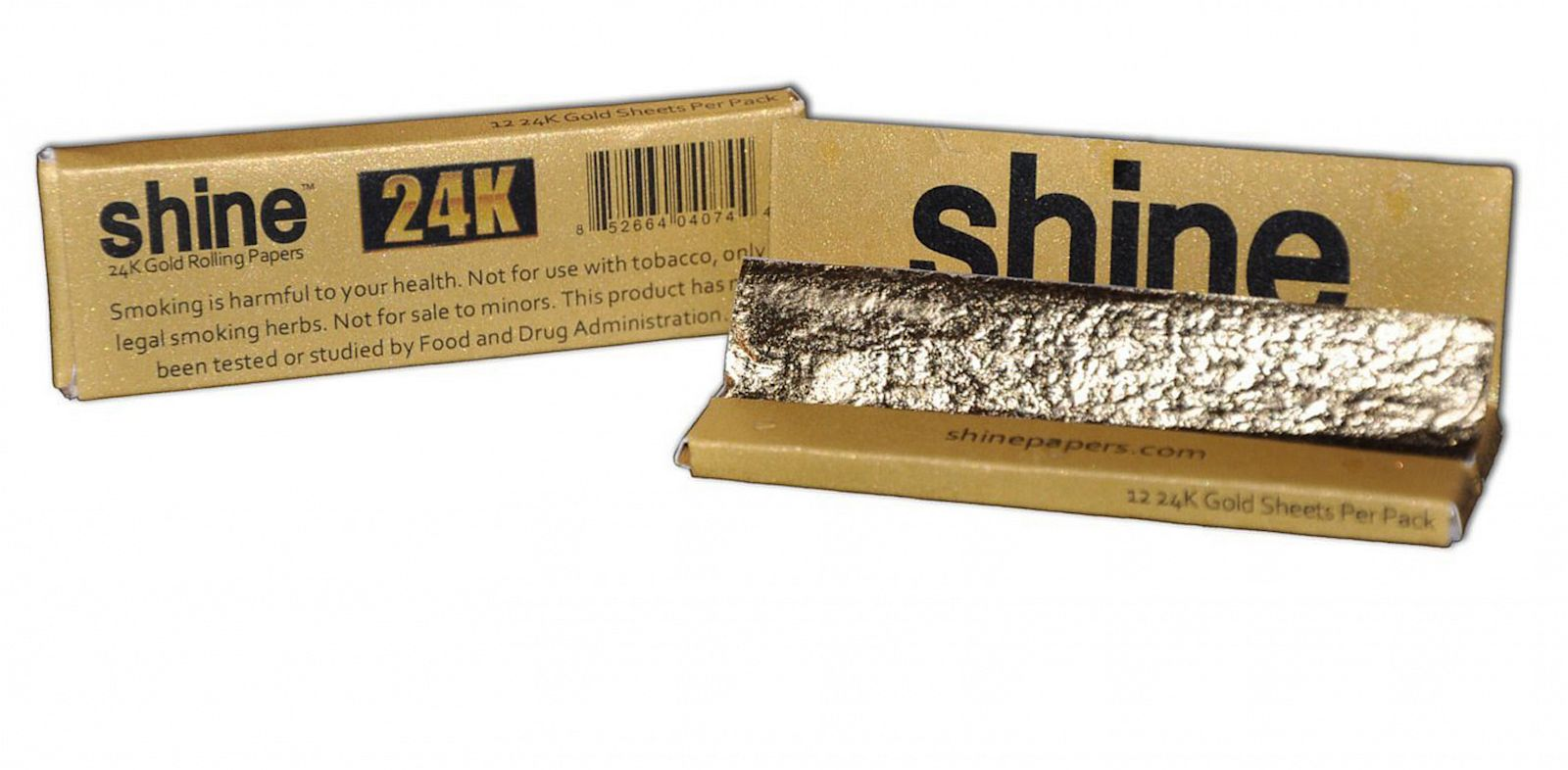 PHOTO: Shine Papers sells 24K gold rolling papers on Amazon.com.