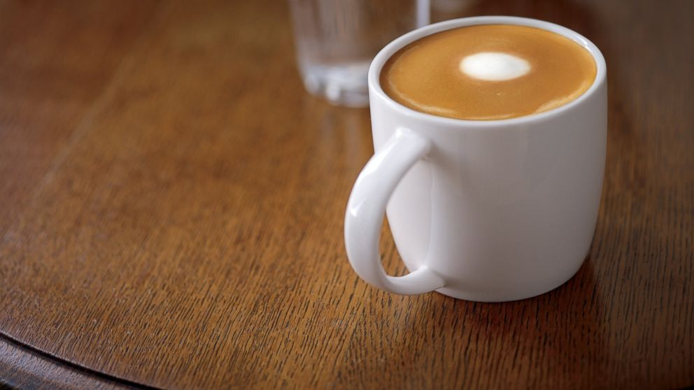 PHOTO: Starbucks new flat white drink.