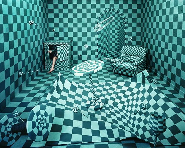 ht studio art panic room sr 131210 Artist Creates Surreal Scenes in Tiny Studio