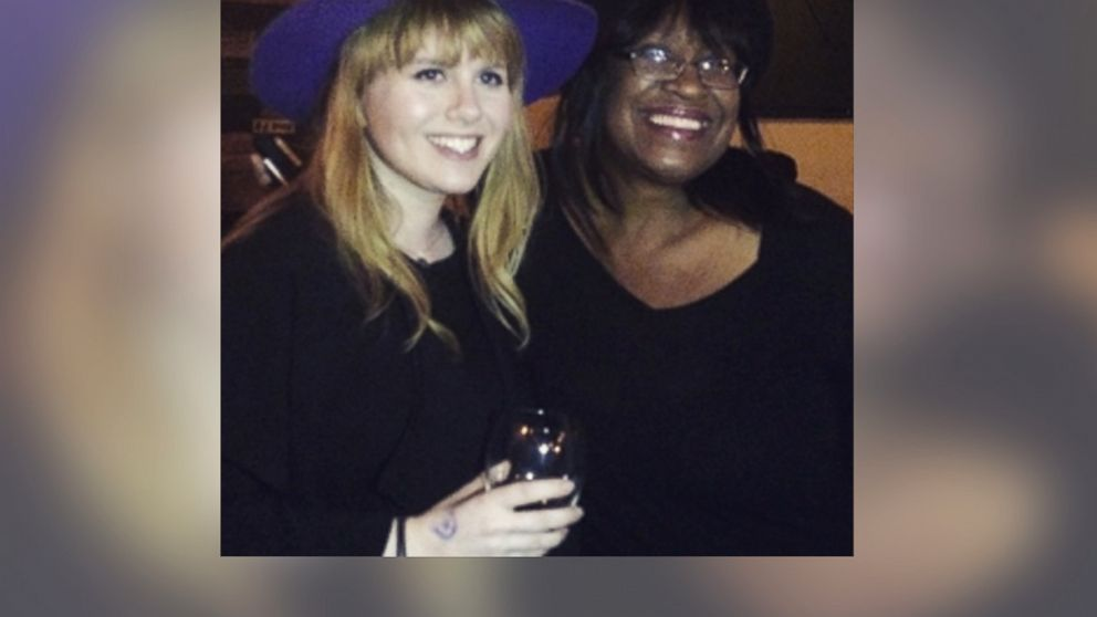 PHOTO: Holly Langley, left, received a surprise guest at her birthday party when a friend who couldnt make it hired DaVette See, right, to impersonate her.