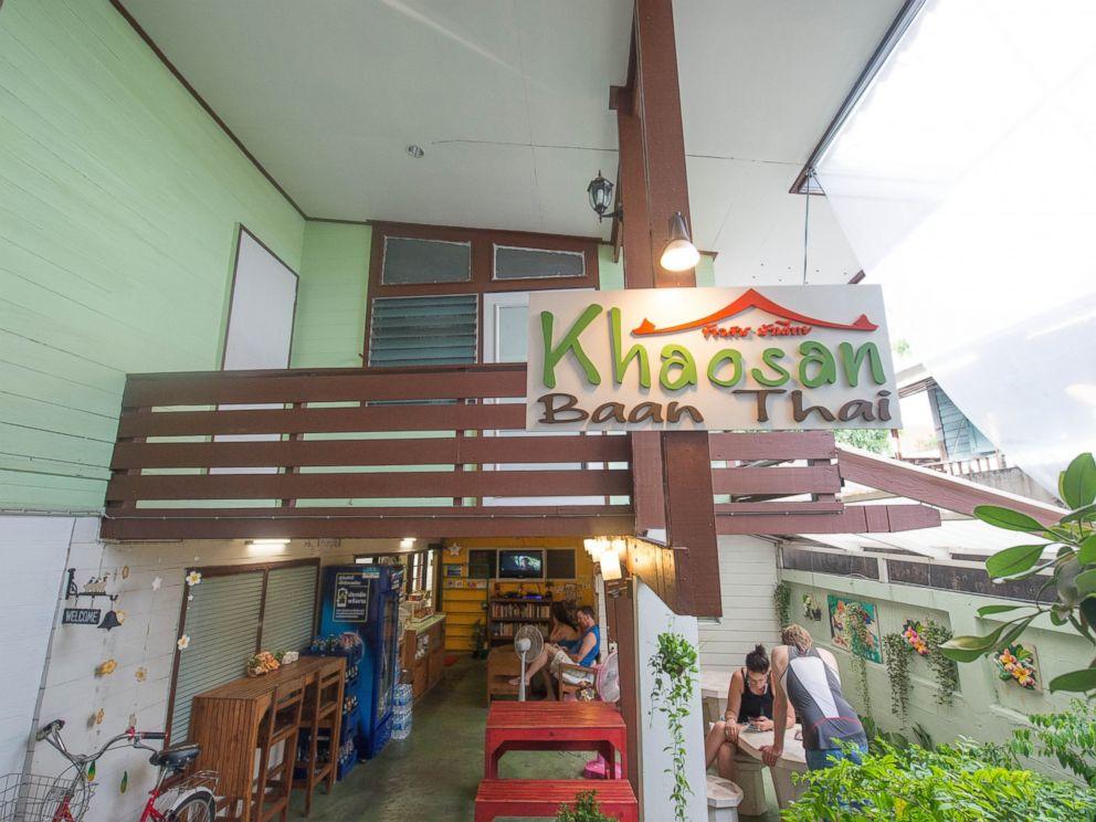PHOTO: Entrance at the Khaosan Baan Thai.