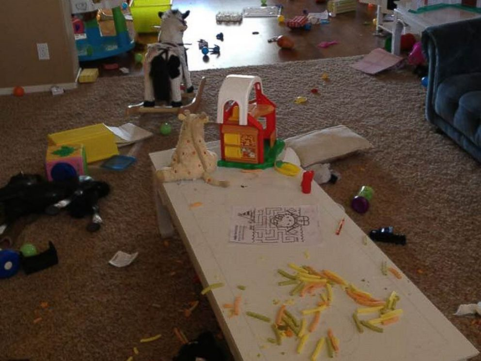 PHOTO: The playroom in Allie Casazzas home the day she finally decided to get rid of all her toys.