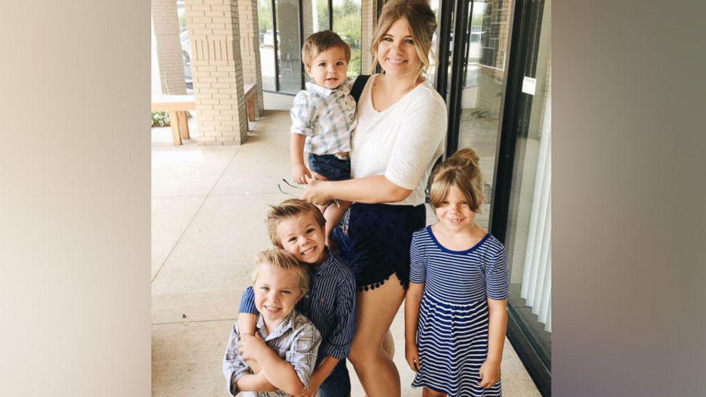 PHOTO: Allie Casazza with her four children. She said throwing out the kids toys saved her life.