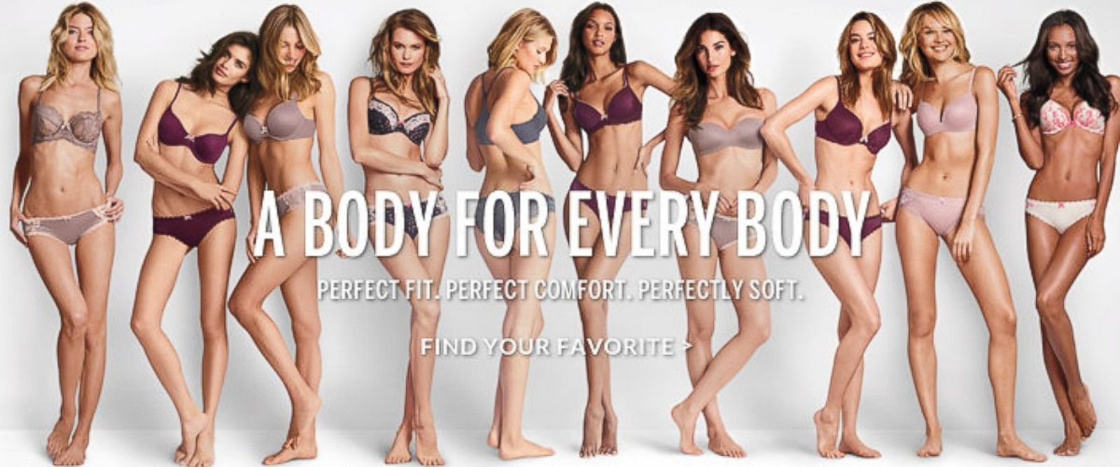 "PHOTO: Victorias Secret ad ""A Body For Every Body."""