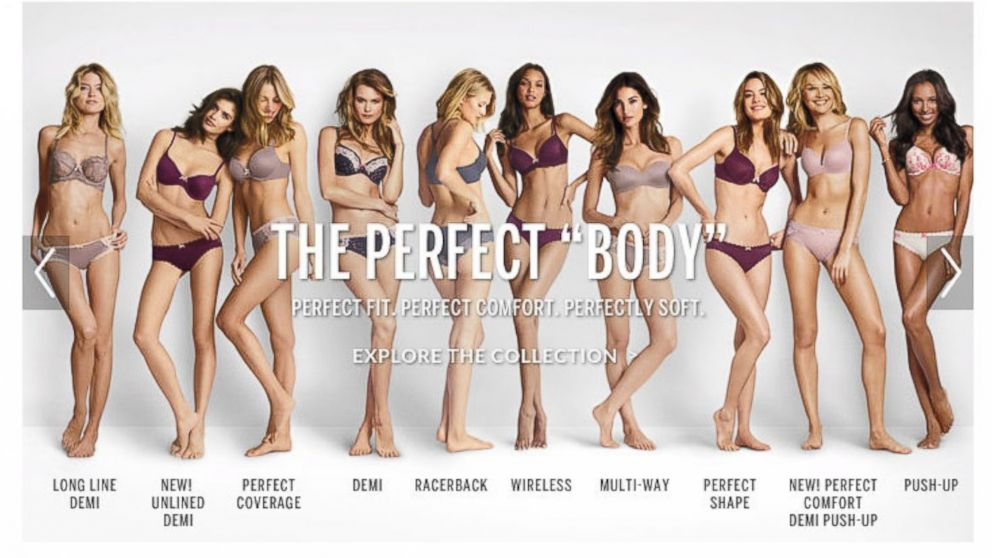 victoria s secret perfect body campaign draws social media victoria s secret perfect body campaign draws social media outrage abc news