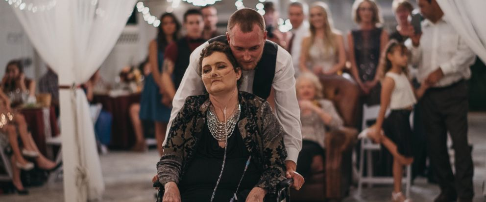 PHOTO: Tyler Crosby of Lakeland, Florida moved his November 15 wedding up a year so his mother Dot Crosby could be there.