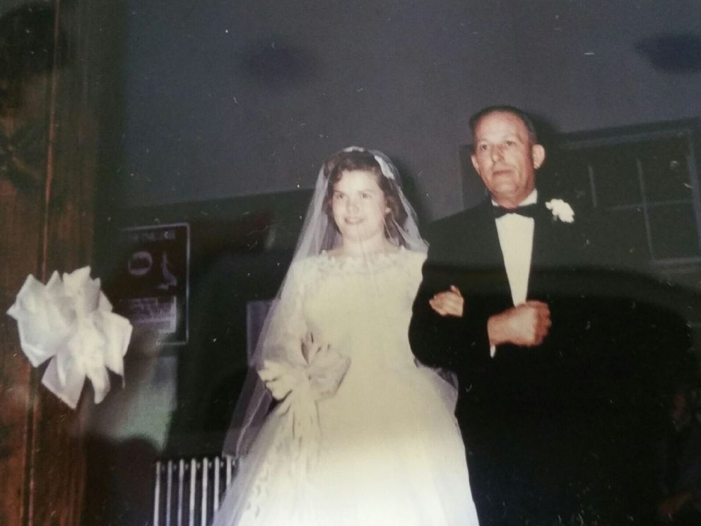 PHOTO: Jill Stawickis mother, Donna Morford, is pictured here on her wedding day with Stawickis grandfather, Andrew Devinney, in 1958.