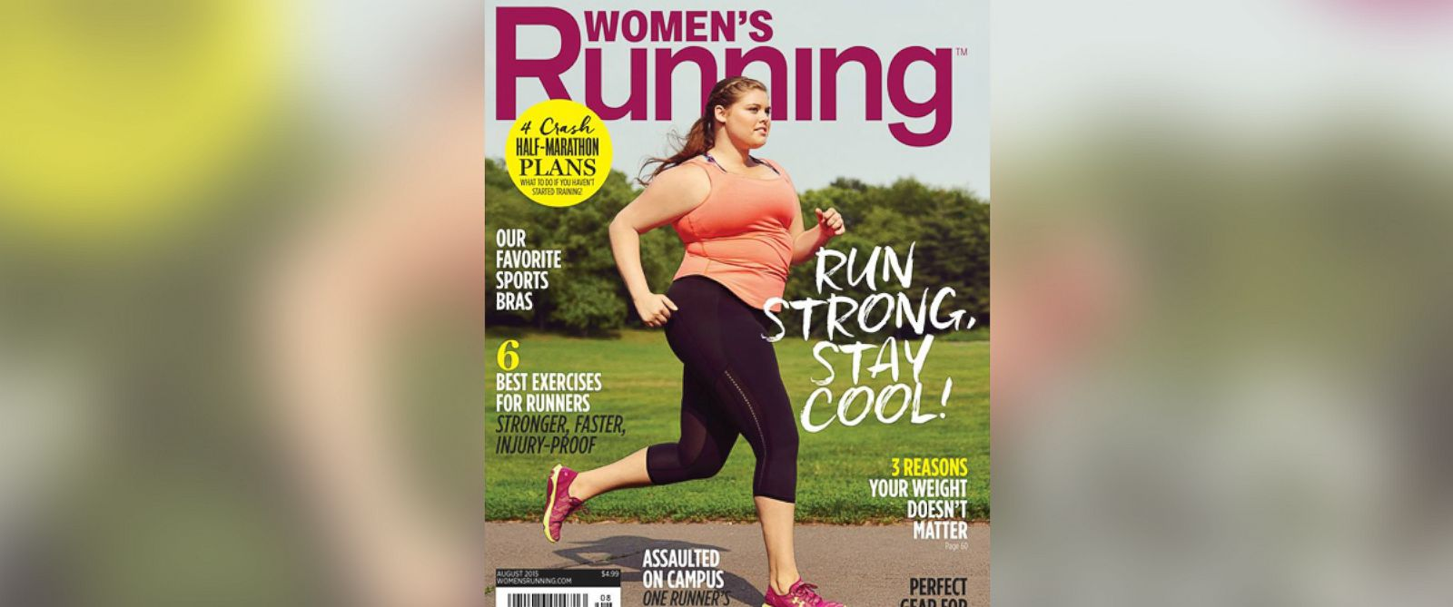 PHOTO: The Aug. 2015 cover of Womens Running Magazine is pictured.