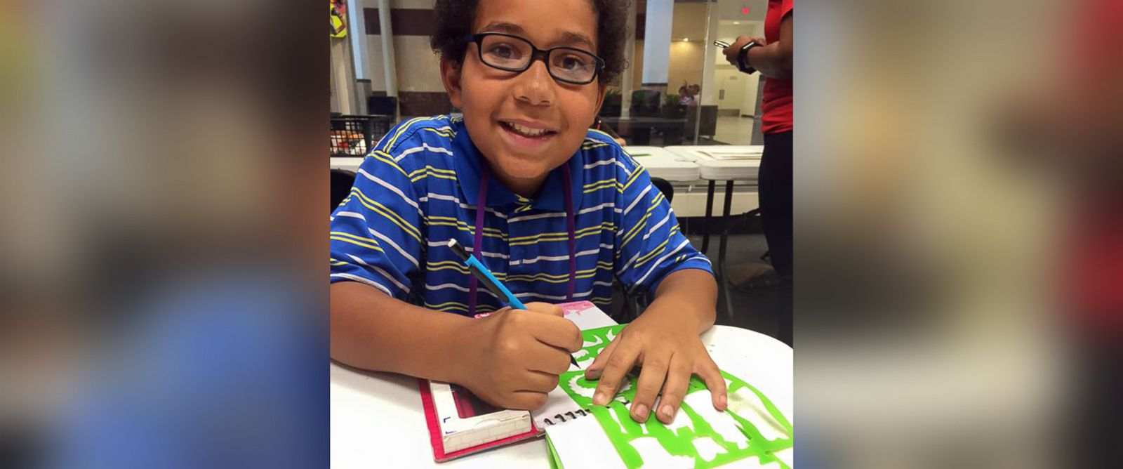 PHOTO: Xavier Elliot, 10, has started a project where he creates clothes for homeless kids.