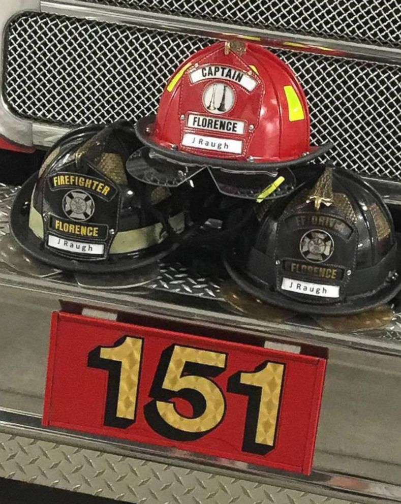 PHOTO: Florence Fire Department in South Carolina honored James Raugh after his death on Jan. 8, 2018.