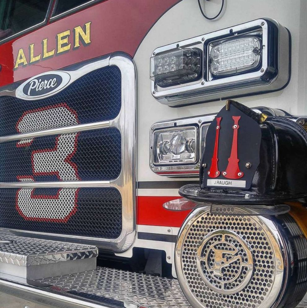 PHOTO: Allen Fire Department in Concord, North Carolina honored James Raugh after his death on Jan. 8, 2018.