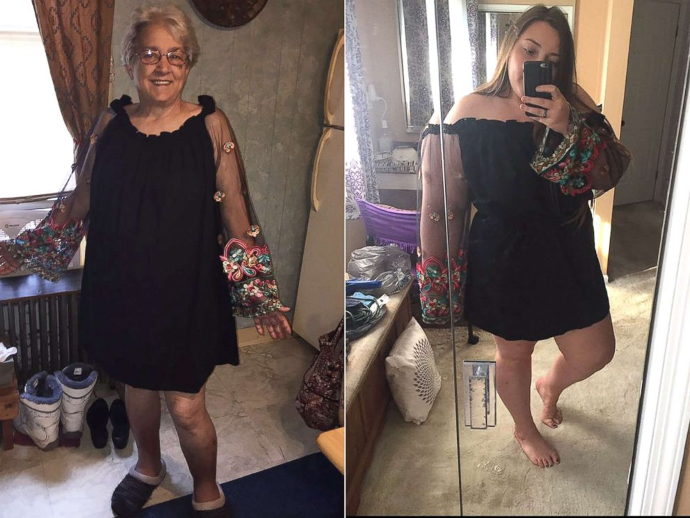 Grandma and granddaughter will rock same dress to family for Grandmother dresses for grandson s wedding