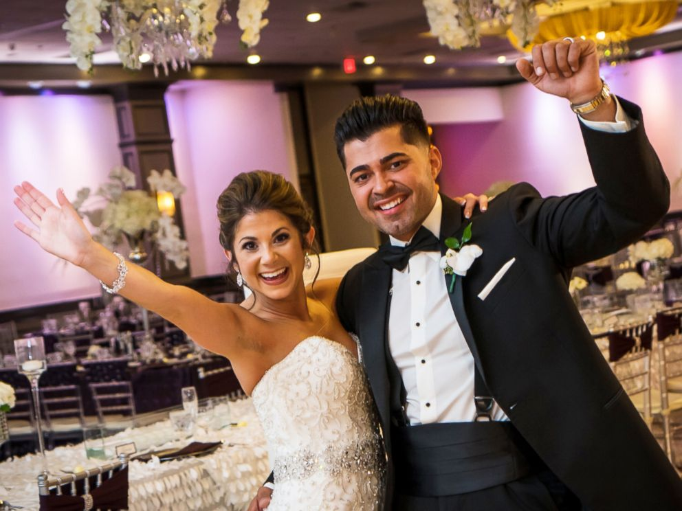 PHOTO: Jessica and Aaron Bairos, both born on April 28, 1990, in Morton Hospital in Taunton, Mass., wed on Sept. 9, 2017.