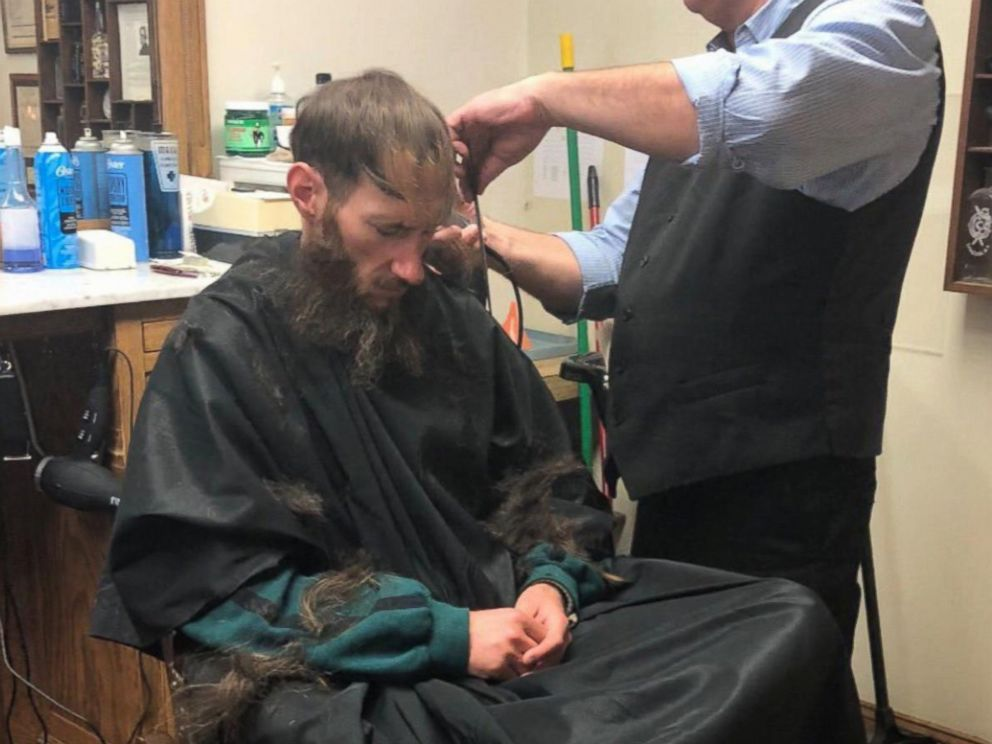 PHOTO: Johnny Bobbitt received a haircut due to the generosity of Kate McClure, who raised more than $360,000 after Bobbitt helped her on the side of the road.