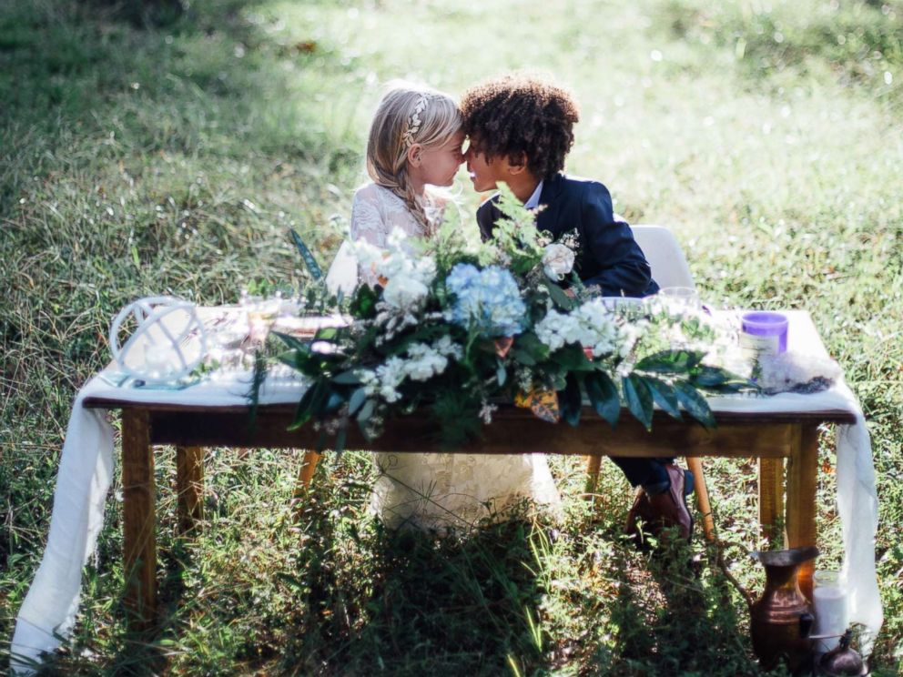 PHOTO: Breana Pulizzi and Bria Nicole Terry, both photographers, held a special mini-wedding photo shoot with their children.