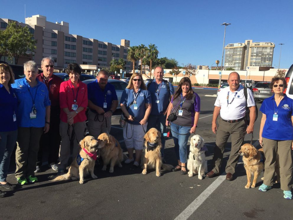 PHOTO: The LCC K-9 Comfort Dogs, affiliated with Lutheran Church Charities, are being used in Las Vegas, Nevada, to help survivors, families of victims, first responders and anyone else affected by the mass shooting that occurred on Oct. 1, 2017.