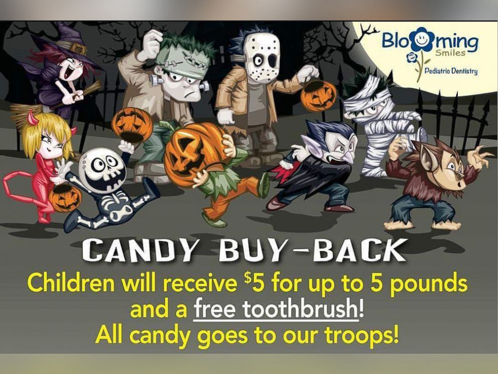PHOTO: Lucas Dental Associates in Bloomfield, New Jersey is offering kids $5 for bags of Halloween candy in their Candy Buy Back program.