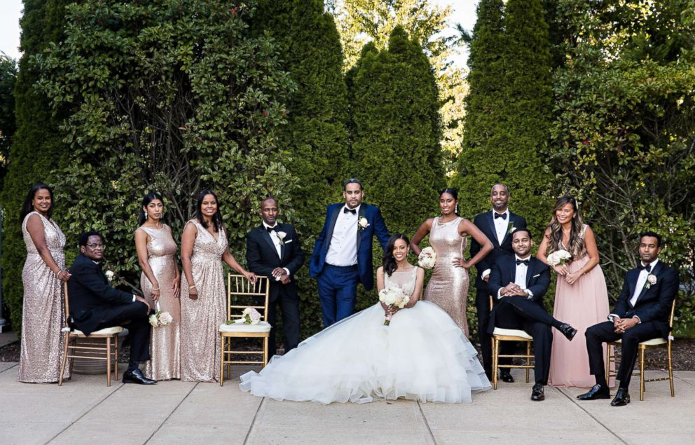 PHOTO: The bridal party for the wedding of Ethiopian prince, Joel Makonnen, and his bride, Ariana Austin.