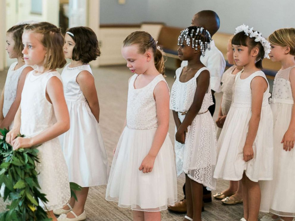 PHOTO: Indianapolis teacher Marielle Slagel Keller asked her students be her flower girls and ring bearers in her June 24 wedding.