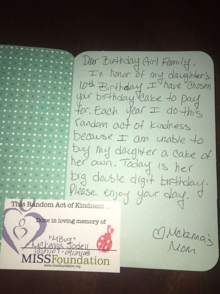 PHOTO: Kyle Jauregui tweeted a photo of the card left by Ashley Santi.