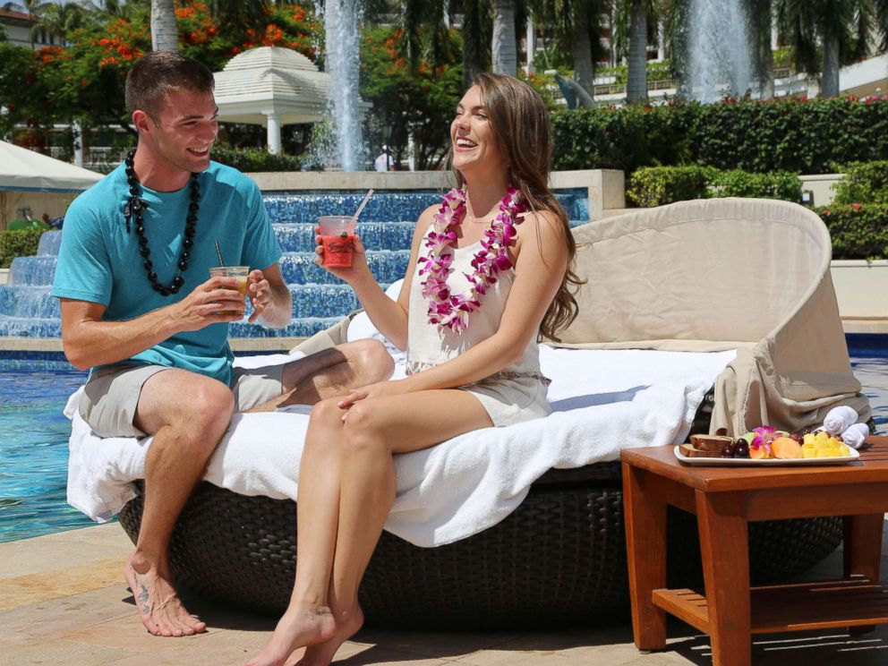 PHOTO: Josh and Michelle enjoying their date by the pool and soaking up the sun in Maui.