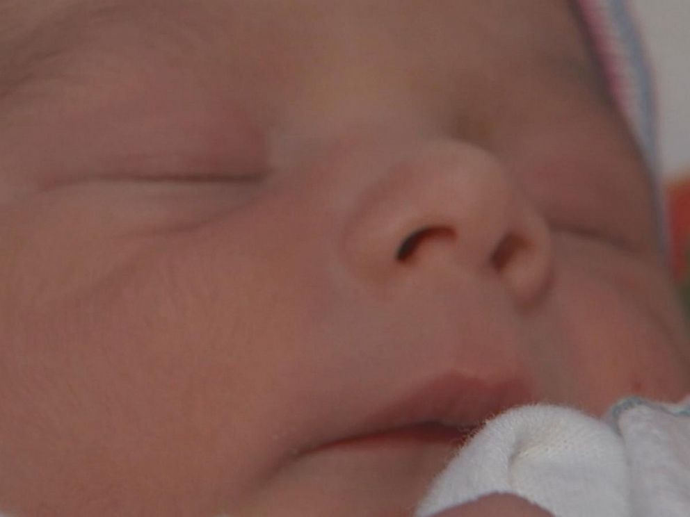 PHOTO: At 1:23 a.m. on Nov. 8, baby Sebastian arrived weighing 6 pounds, 7 ounces.