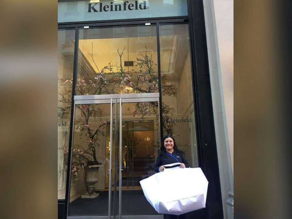 PHOTO: The original wedding dress Myrna Orozco chose at Kleinfeld was destroyed in floodwaters from Hurricane Harvey.