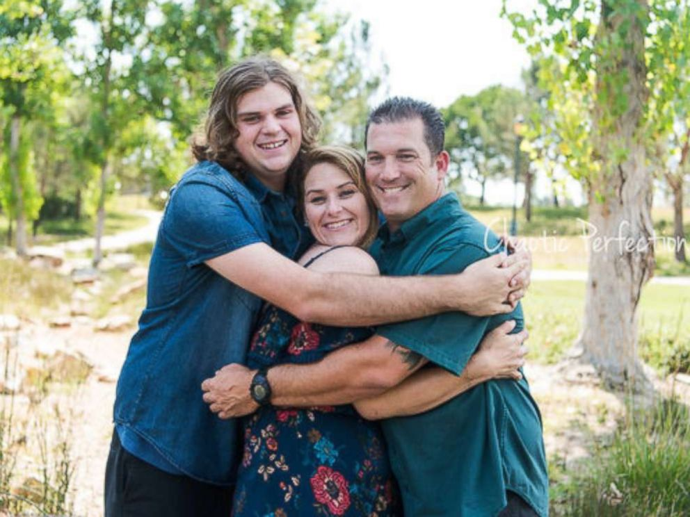 PHOTO: High school sweethearts Rebecca Hayes and David Ward took newborn photos with their 21-year-old son, Clayton Jensvold.