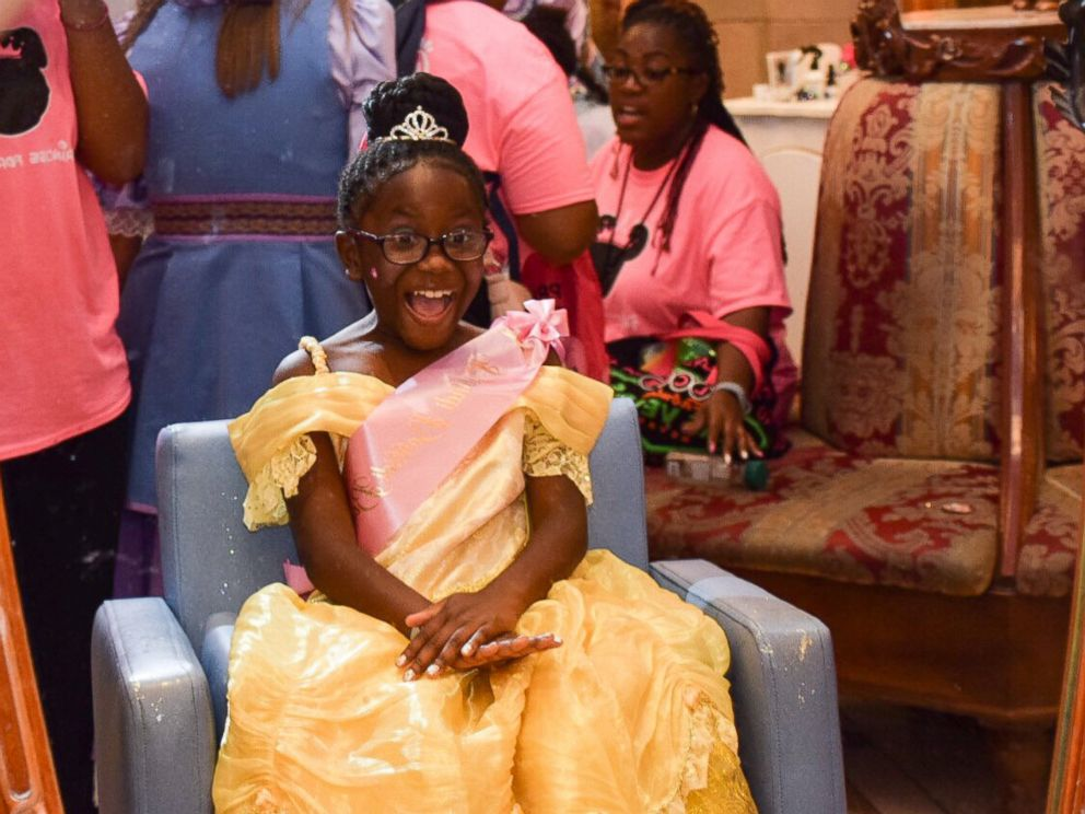 PHOTO: The girls were treated to a princess party and princess spa experience at the Bibbidi Bobbidi Boutique at Cinderellas Castle at Walt Disney World in Orlando, Fla.