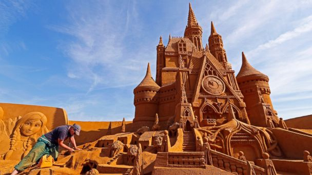 Summer dreams come true: Spectacular Disney sand sculptures