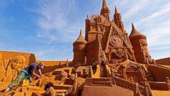 Summer dreams come true: Spectacular Disney sand sculptures