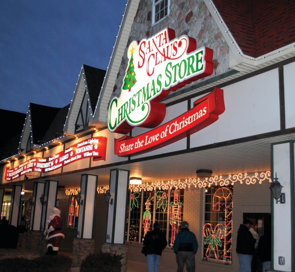 PHOTO: A Christmas store in Santa Claus, Ind., is pictured here.