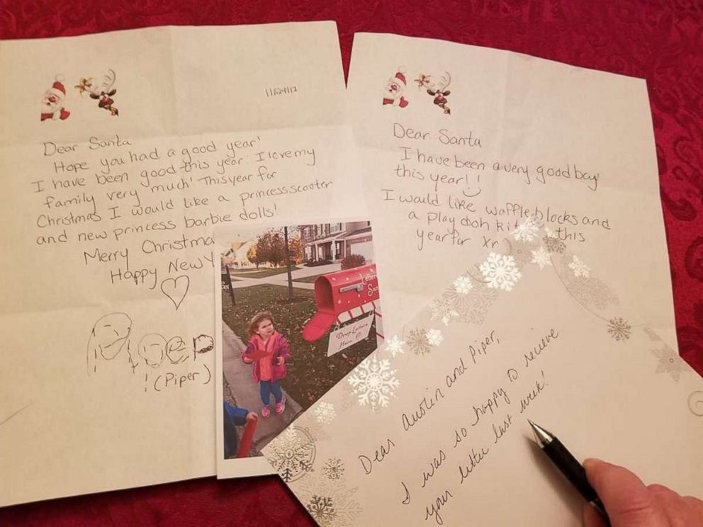 PHOTO: Piper Falli wrote that she wanted a princess scooter from Santa in her letter.