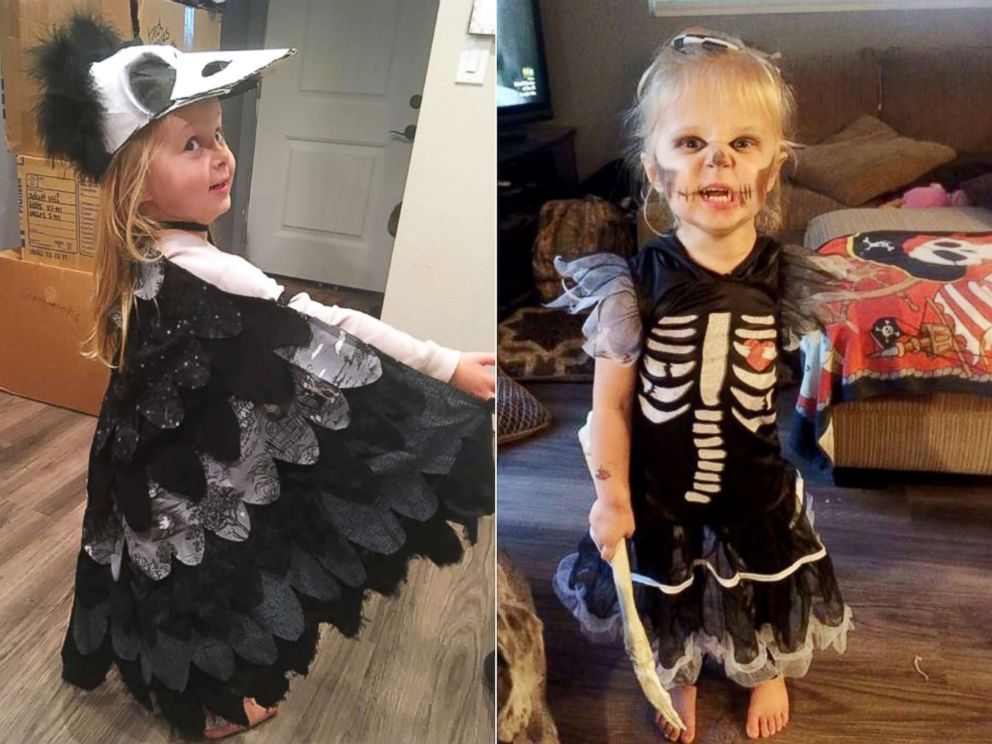 photo scarlette tipton 3 wears a different halloween costume each year to incorporate