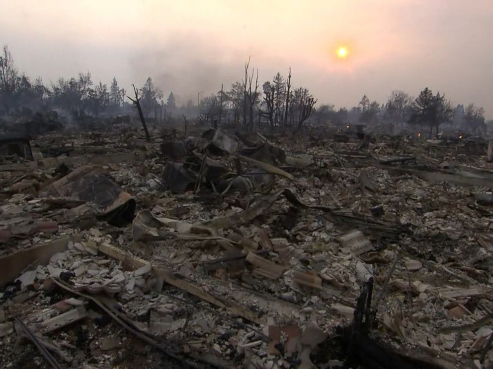 PHOTO: Kris Ponds home was burned to the ground by the wildfires in northern California.