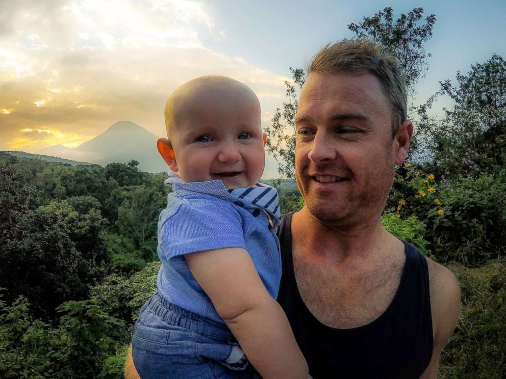 PHOTO: Shaun Bayes poses with his son, Quinn, while traveling in Central America.