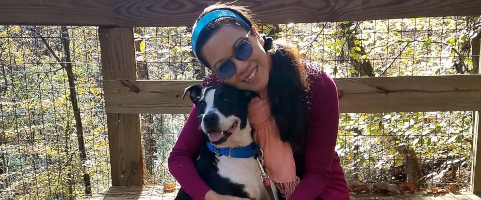 PHOTO: Jackie the shelter dog is loving life this week at home with her foster mom, Chi-Wai Sperry.