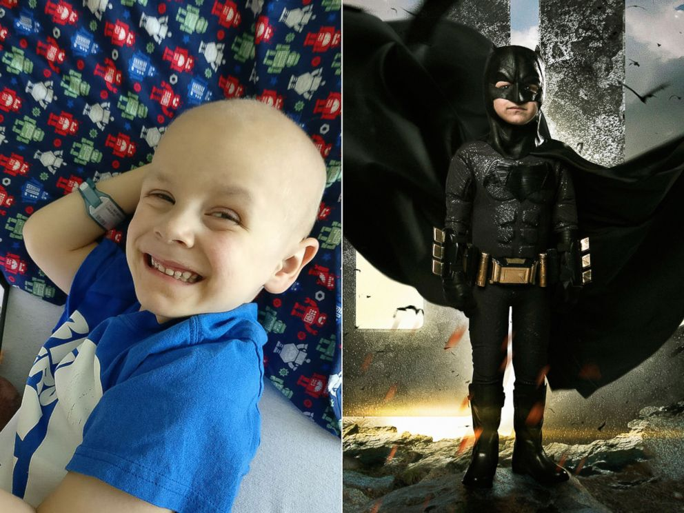 PHOTO: Simon Fullmer was diagnosed with euroblastoma, cancer of the nerves. | Simon Fullmer as Batman.