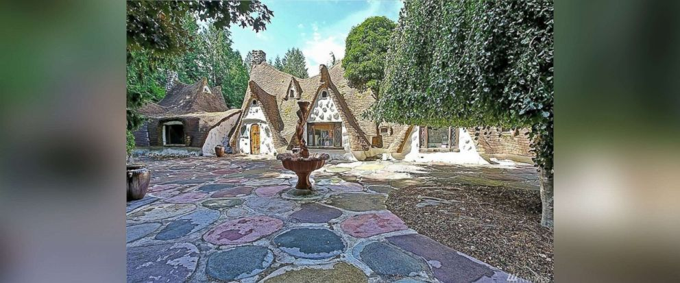 """PHOTO: This Olalla, Wash., home inspired by the cottage in """"Snow White,"""" is now on sale for $775,000."""