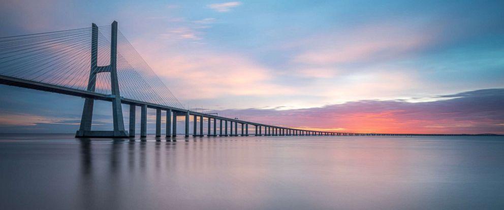 PHOTO: Vasco da Gama Bridge over the Tagus River is pictured in this undated stock photo.