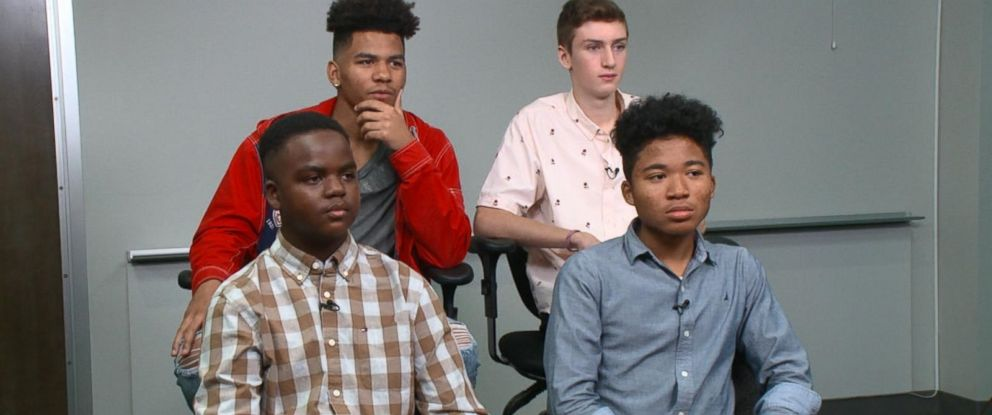 """PHOTO: A group of teen boys spoke openly about the negative effects of the traditional ideas of masculinity during a social experiment set up by """"Good Morning America."""""""